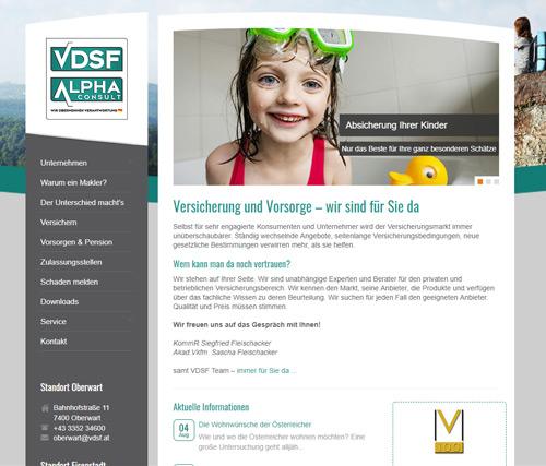 VDSF webseite fixfertig mieten